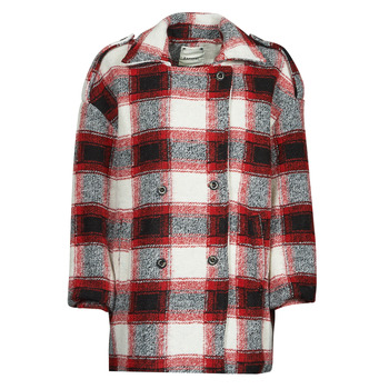 Textiel Dames Mantel jassen Kaporal FEO Beige / Rood