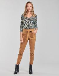 Textiel Dames 5 zakken broeken One Step FT22111 Beige