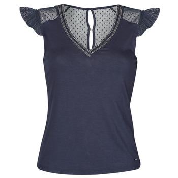 Textiel Dames T-shirts korte mouwen Morgan DUCHES Marine