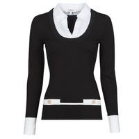 Textiel Dames Truien Morgan MFLO Zwart / Wit