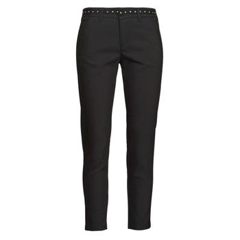 Textiel Dames 5 zakken broeken Freeman T.Porter CLAUDIA POLYNEO Zwart