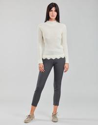 Textiel Dames 5 zakken broeken Freeman T.Porter ADELIE PRINCESS Grijs / Antraciet