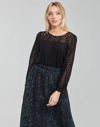 Textiel Dames T-shirts met lange mouwen Deeluxe FRIDA Zwart