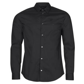 Textiel Heren Overhemden lange mouwen Emporio Armani 8N1C09 Zwart