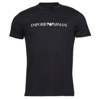 Textiel Heren T-shirts korte mouwen Emporio Armani 8N1TN5 Zwart