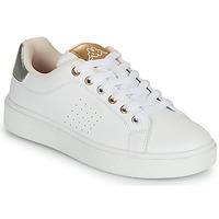Schoenen Meisjes Lage sneakers Kappa SAN REMO Wit / Goud / Zilver