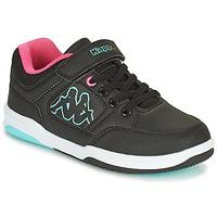 Schoenen Meisjes Lage sneakers Kappa KASH LOW EV Zwart / Blauw / Roze