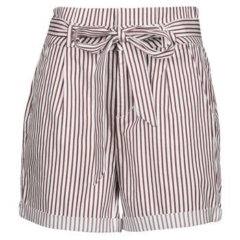 Textiel Dames Korte broeken / Bermuda's Vero Moda VMEVA Wit / Brown