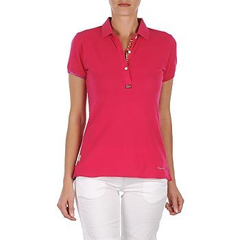 Textiel Dames Polo's korte mouwen Napapijri ELINDA Roze