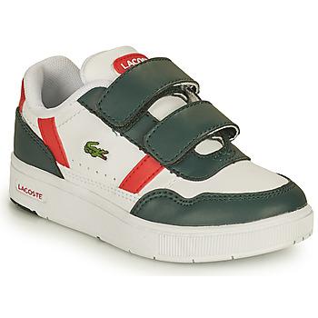 Schoenen Kinderen Lage sneakers Lacoste T-CLIP 0121 2 SUI Wit / Groen / Rood
