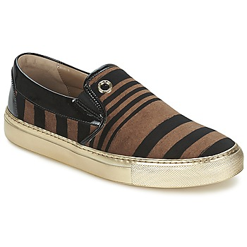 Schoenen Dames Instappers Sonia Rykiel STRIPES VELVET Zwart / Brown