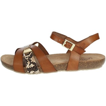 Schoenen Dames Sandalen / Open schoenen Yokono IBIZA-153 Brown leather