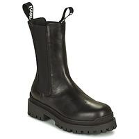 Schoenen Dames Laarzen Karl Lagerfeld BIKER II LONG GORE BOOT Zwart