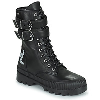 Schoenen Dames Laarzen Karl Lagerfeld TREKKA II HI CUFF BUCKLE BOOT Zwart