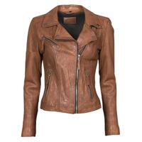 Textiel Dames Leren jas / kunstleren jas Oakwood CLIPS 6 Brown