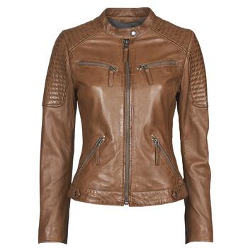 Textiel Dames Leren jas / kunstleren jas Oakwood HILLS6 Cognac