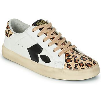 Schoenen Dames Lage sneakers Le Temps des Cerises AUSTIN Wit / Leopard