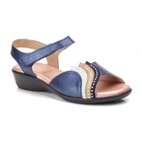 Schoenen Dames Sandalen / Open schoenen Cbp - Conbuenpie Sandalias con cuña de piel by CBP Bleu