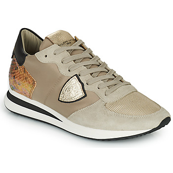 Schoenen Dames Lage sneakers Philippe Model TRPX LOW WOMAN Taupe