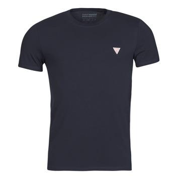 Textiel Heren T-shirts korte mouwen Guess CN SS CORE TEE Marine