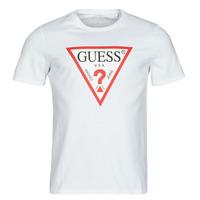 Textiel Heren T-shirts korte mouwen Guess CN SS ORIGINAL LOGO TEE Wit