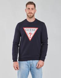 Textiel Heren Sweaters / Sweatshirts Guess AUDLEY CN FLEECE Marine