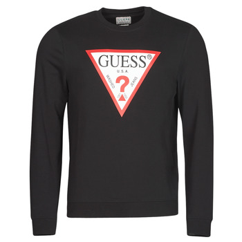Textiel Heren Sweaters / Sweatshirts Guess AUDLEY CN FLEECE Zwart