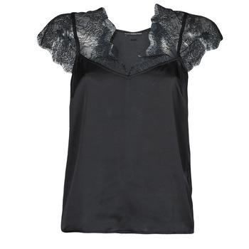 Textiel Dames Tops / Blousjes Guess SS MIRANDA TOP Zwart