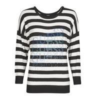 Textiel Dames Truien Guess CLAUDINE BAT SLEEVE SWTR Zwart / Wit