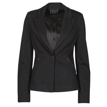 Textiel Dames Jasjes / Blazers Guess SPERANZA BLAZER Zwart
