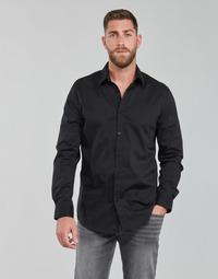 Textiel Heren Overhemden lange mouwen Guess LS SUNSET SHIRT Zwart