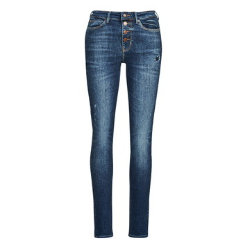 Textiel Dames Skinny Jeans Guess 1982 EXPOSED BUTTON Blauw / Donker