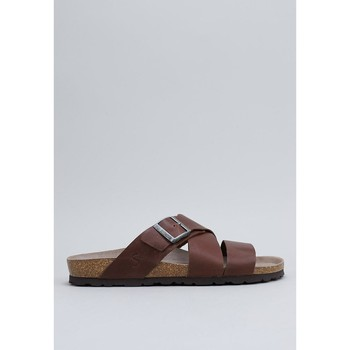 Schoenen Heren Leren slippers Senses & Shoes  Brown