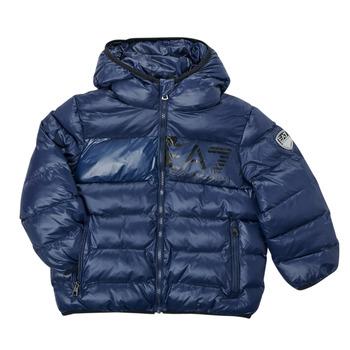 Textiel Jongens Dons gevoerde jassen Emporio Armani EA7 TREDA Marine