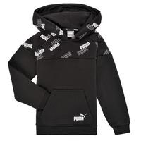 Textiel Jongens Sweaters / Sweatshirts Puma PUMA POWER AOP HOODIE Zwart