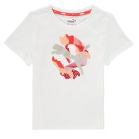Textiel Meisjes T-shirts korte mouwen Puma ALPHA TEE Wit