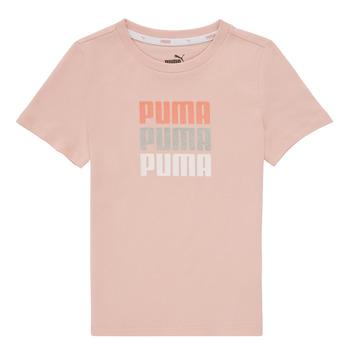 Textiel Meisjes T-shirts korte mouwen Puma ALPHA TEE Roze