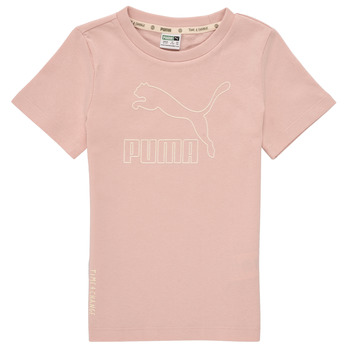 Textiel Meisjes T-shirts korte mouwen Puma T4C TEE Roze