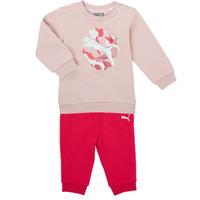 Textiel Meisjes Setjes Puma Minicats ALPHA Crew Jogger FL Roze