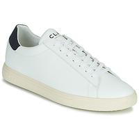 Schoenen Lage sneakers Clae BRADLEY VEGAN Wit / Blauw