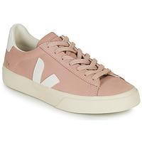Schoenen Dames Lage sneakers Veja CAMPO Roze / Wit