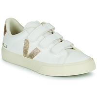 Schoenen Dames Lage sneakers Veja RECIFE LOGO Wit / Goud