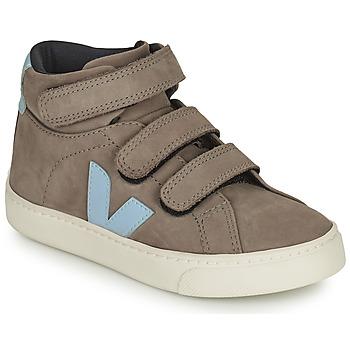 Schoenen Kinderen Hoge sneakers Veja SMALL ESPLAR MID Grijs / Blauw