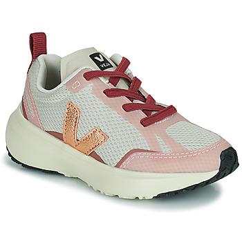 Schoenen Meisjes Lage sneakers Veja SMALL CANARY Wit / Roze