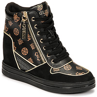 Schoenen Dames Hoge sneakers Guess NANGY Zwart