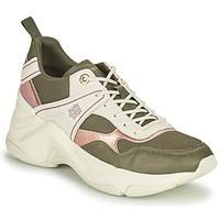 Schoenen Dames Lage sneakers Tommy Hilfiger FASHION WEDGE SNEAKER Groen / Roze