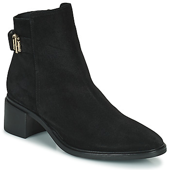 Schoenen Dames Laarzen Tommy Hilfiger HARDWARE TH MID HEEL BOOT Zwart