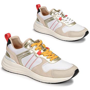 Schoenen Dames Lage sneakers Tommy Hilfiger METALLIC CASUAL RETRO RUNNER Wit