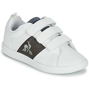 Schoenen Kinderen Lage sneakers Le Coq Sportif COURTCLASSIC PS Wit / Brown