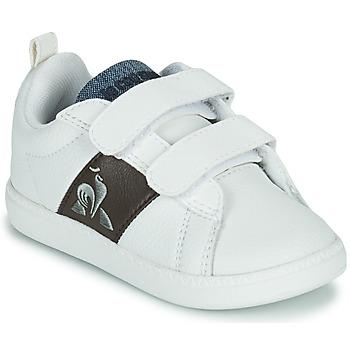 Schoenen Kinderen Lage sneakers Le Coq Sportif COURTCLASSIC INF Wit / Brown